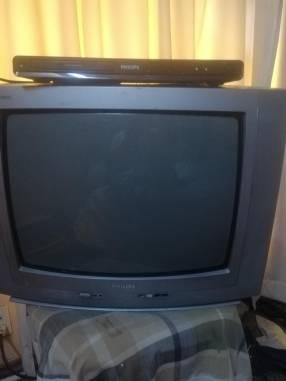 TV Philips de 21 pulgadas + DVD