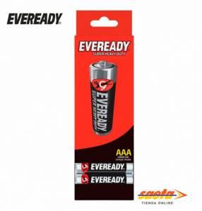 Pila Eveready AAA Carbon estuche x 24 unidades