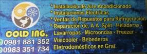 Reparación de electrodomésticos instalaciones de A.A