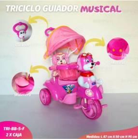 Triciclo guiador para nena