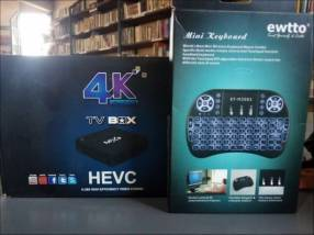 TV Box 4K con mini teclado bluetooth