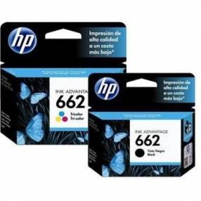 Cartuchos HP 662 negro y 662 tricolor