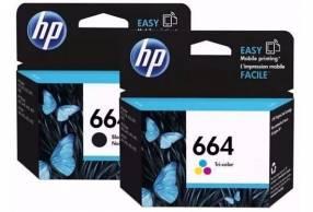 Cartuchos HP 664 negro y 664 tricolor