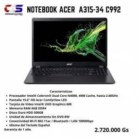 Notebook Acer A315-34 C992