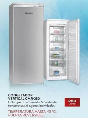 Freezer Consumer congelador vertical gris 250 litros F/H