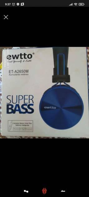 Auricular Ewtto ET A2650M