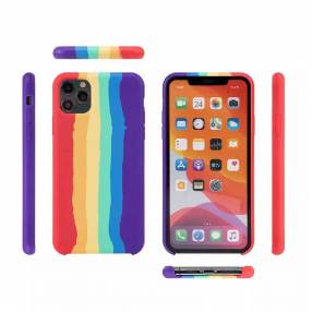 Case silicona full cover aquarela for iphone 11 pro max