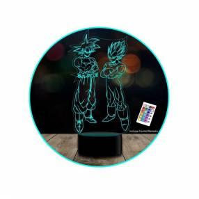Lampara de ilusion 3d c/ control remoto (16 colores)