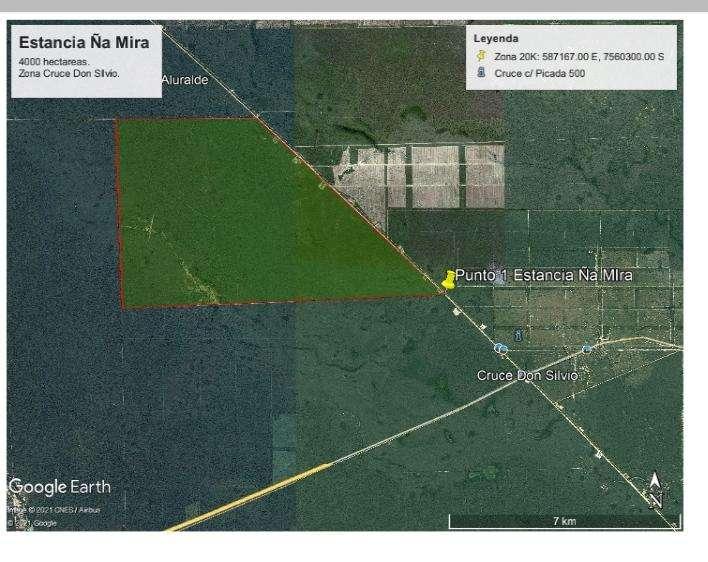 Propiedad de 4.000 hectáreas en cruce Don Silvio - 0