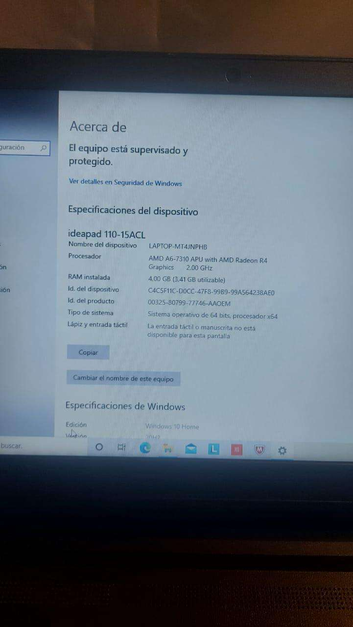 Notebook Lenovo Ideapad A6 7ma generación - 7