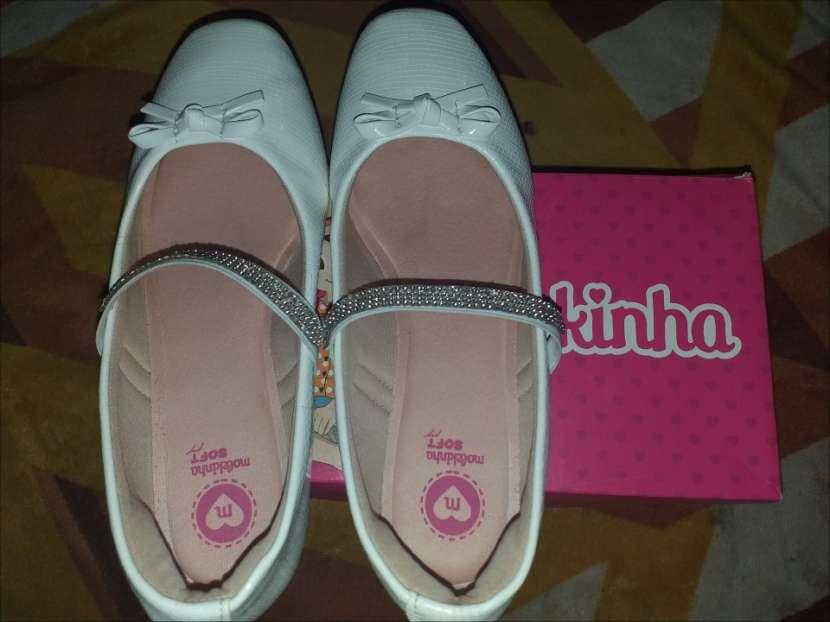 Zapato blanco para cortejo Molekinha calce 33 horma grande - 1