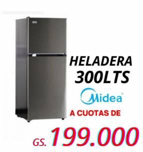 Heladera Midea negro 300 lts de 2 puertas