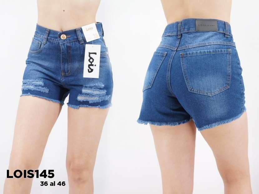Short de jeans con roturas y fleco LOIS145 - 0