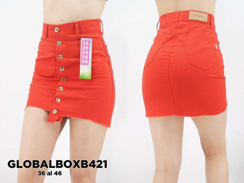 Pollerita de jeans tipo sport GLOBALBOXB421 - 0