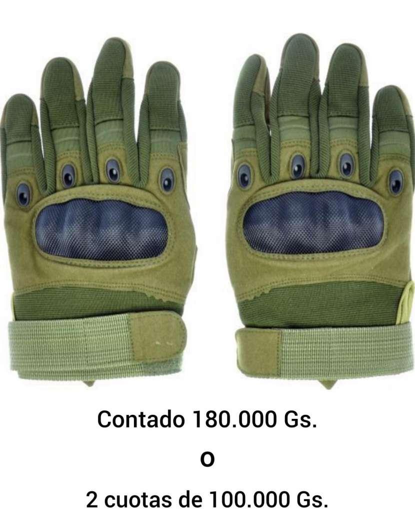 Guantes tácticos verde oscuro - 0
