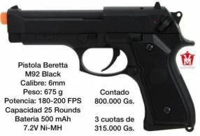 Pistola airsoft M92 eléctrica