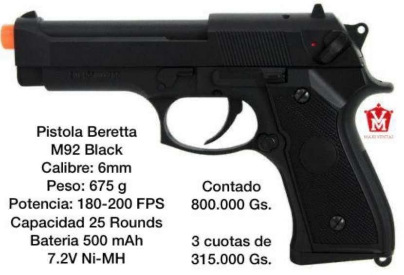 Pistola airsoft M92 eléctrica - 0