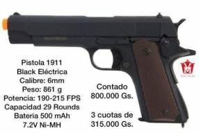 Pistola airsoft 1911 black eléctrica