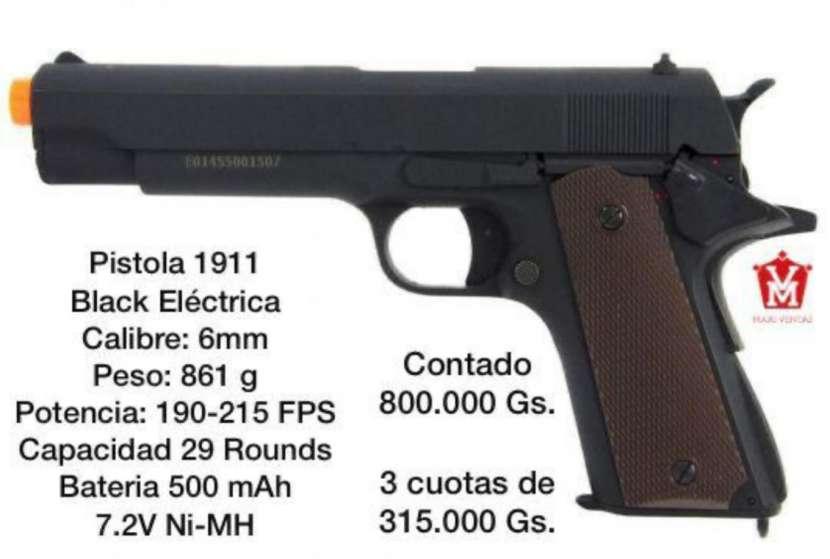 Pistola airsoft 1911 black eléctrica - 0