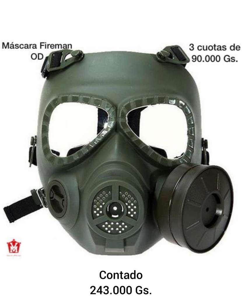 Máscara Fireman de humo verde oscuro - 0