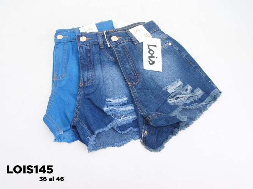 Short de jeans con roturas y fleco LOIS145 - 1