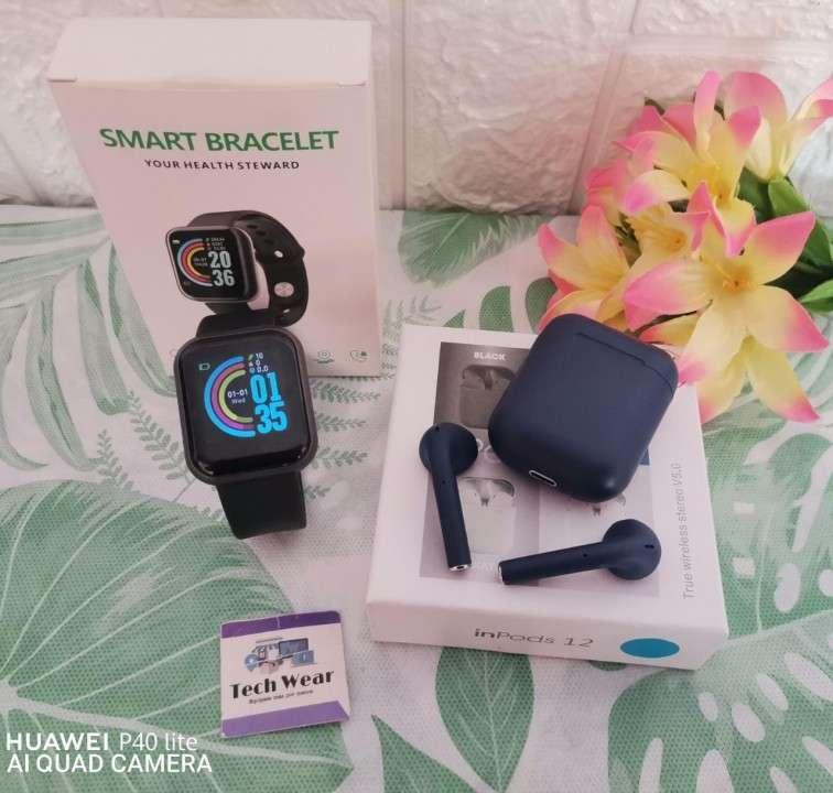 Smartwatch D20 con auricular i12 bluetooth de regalo - 3