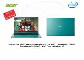 Notebook Acer Intel SSD 128 GB Edición Ocean Blue.