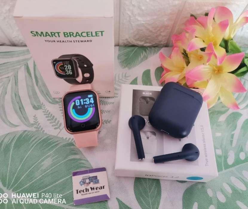 Smartwatch D20 con auricular i12 bluetooth de regalo - 1