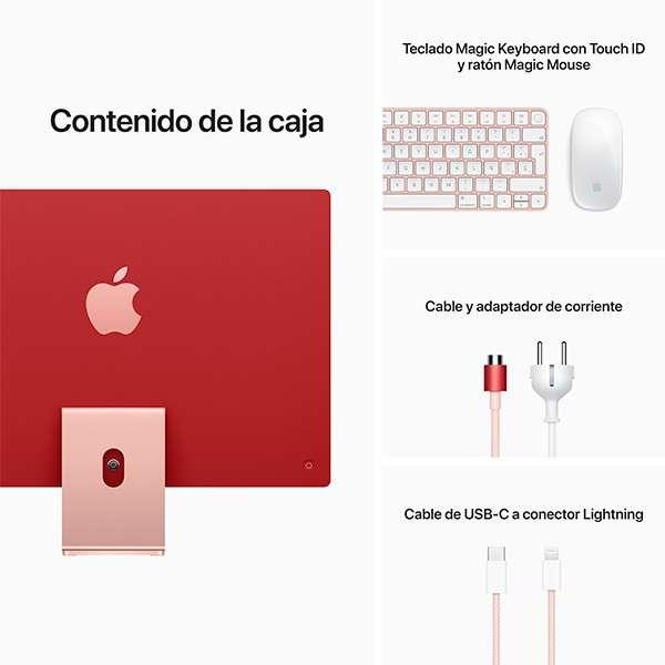 Apple iMac M1 8gb/512gb SSD 24 pulgadas 2021 Pink MGPN3LL Touch ID - 1