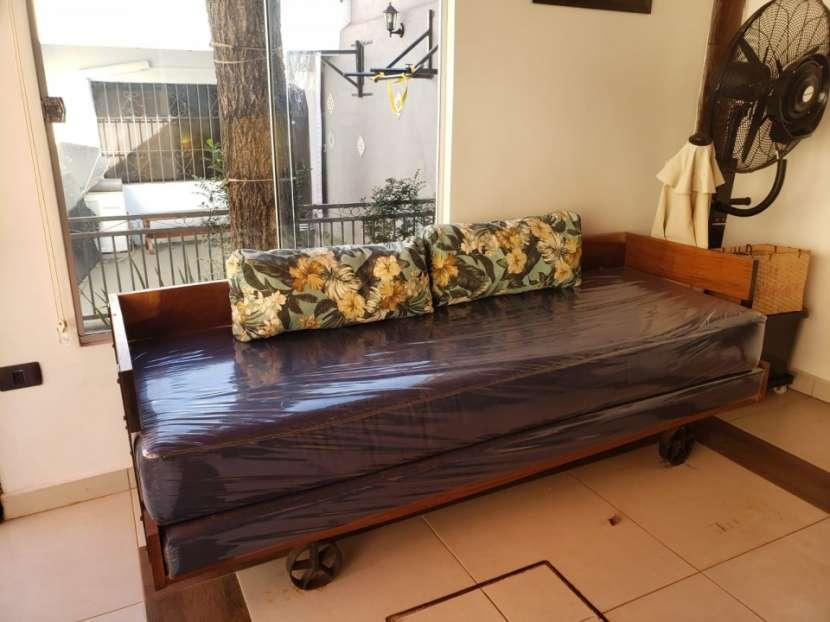Mesa de lapacho y hierro para quincho - 2