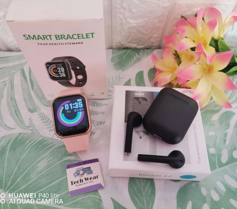 Smartwatch D20 con auricular i12 bluetooth de regalo - 7