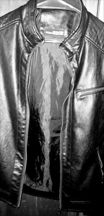 Campera negra de cuero - 2