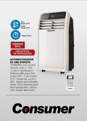 Aire acondicionado portátil Consumer de 12.000 btu