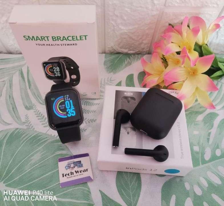 Smartwatch D20 con auricular i12 bluetooth de regalo - 4