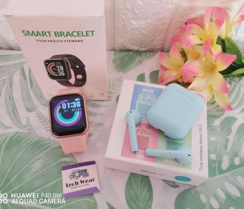 Smartwatch D20 con auricular i12 bluetooth de regalo - 6