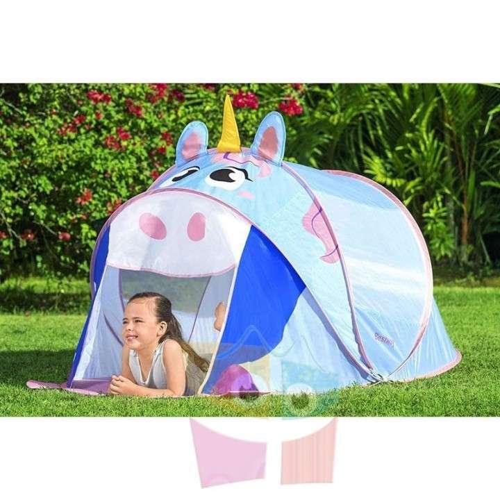 Carpa de camping infantil Unicornio 1,82 x 0,96 x 0,81 mts Bestway - 1
