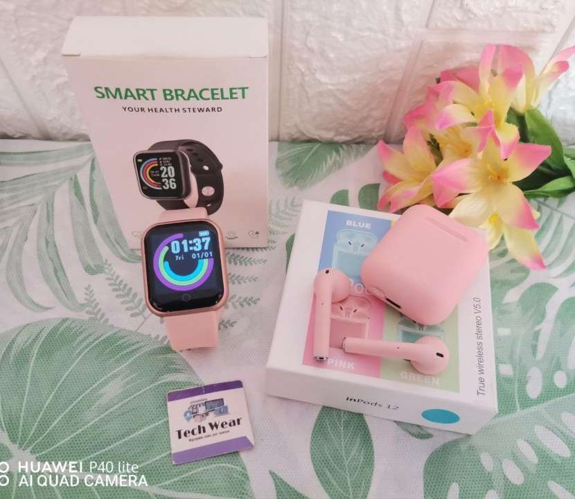 Smartwatch D20 con auricular i12 bluetooth de regalo - 0