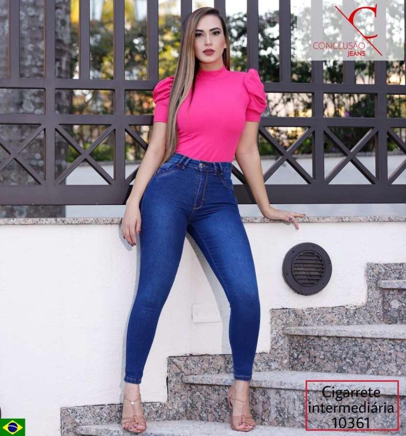 Jeans brasilero elastizado para dama CONCLUSAO10361 - 0