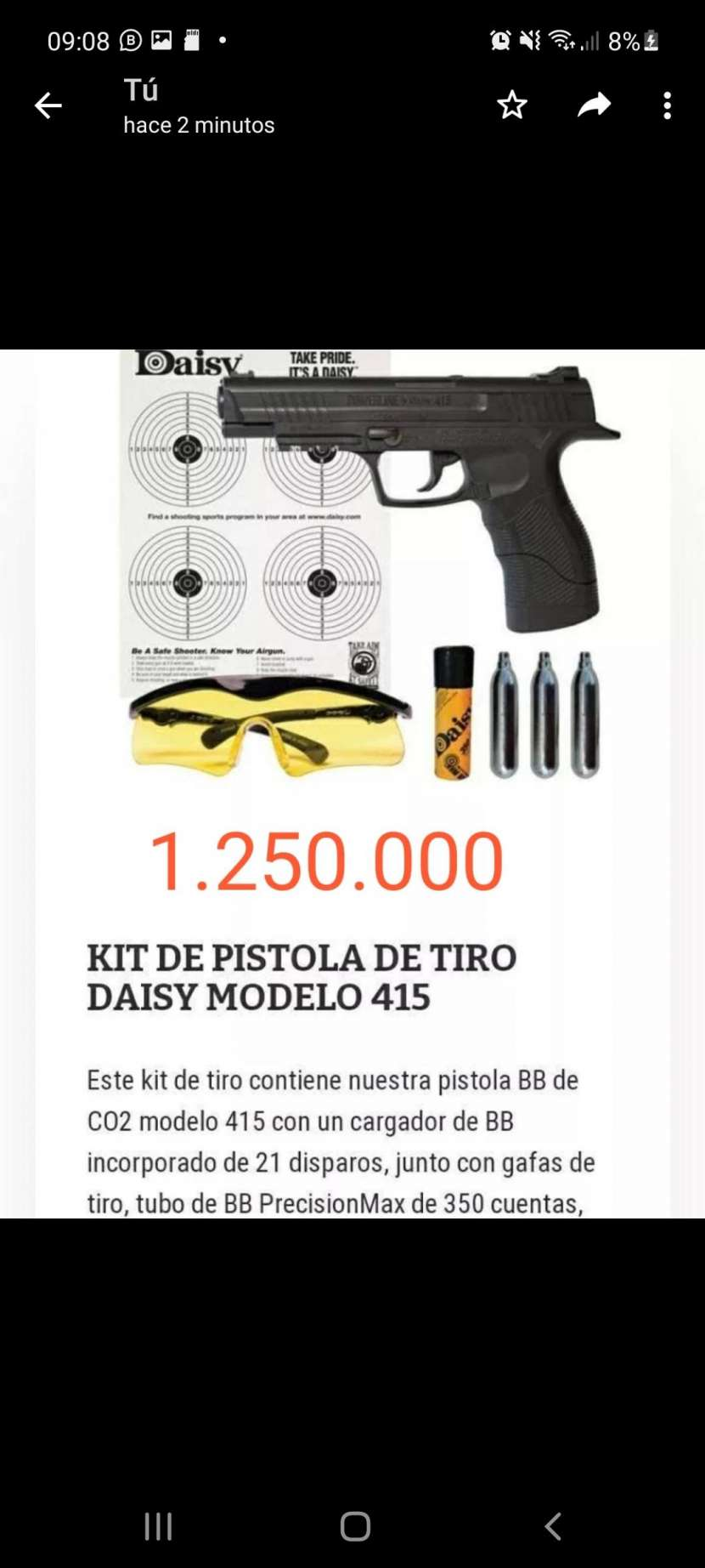 Pistola Daisy modelo 415 - 0