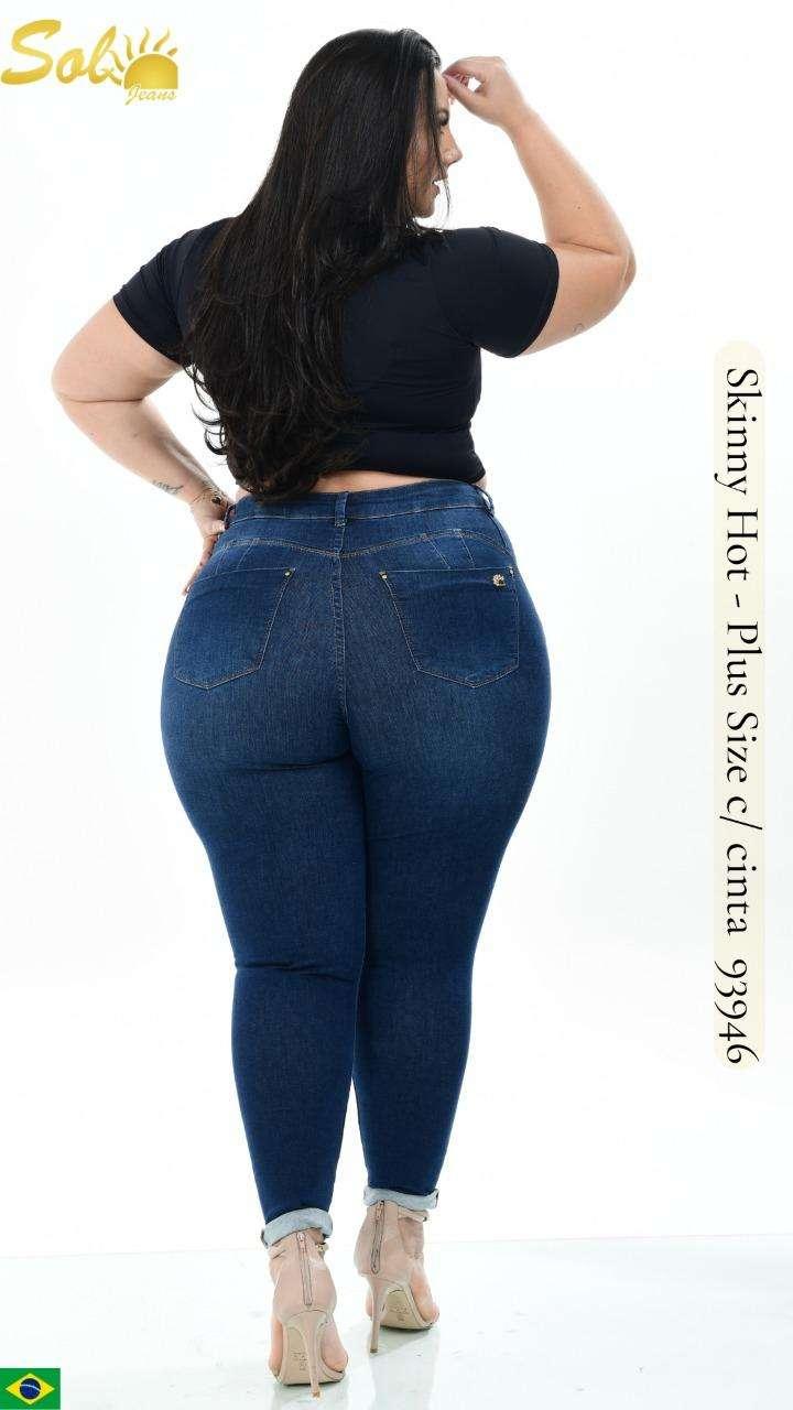 Jeans brasilero talle plus para dama SOL93946 - 0