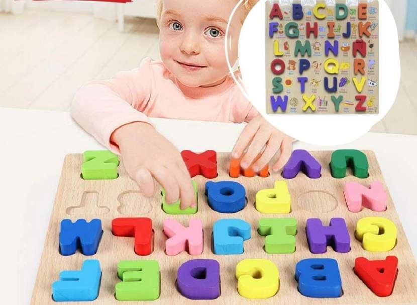 Tabla de madera abecedario - 0
