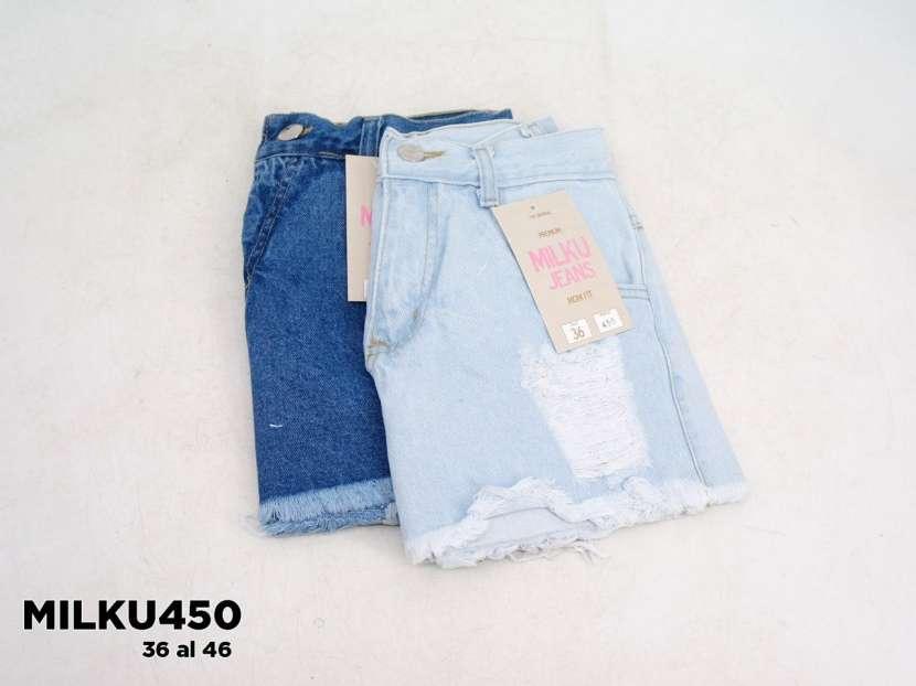 Short de jeans mom con roturas MILKU450 - 1