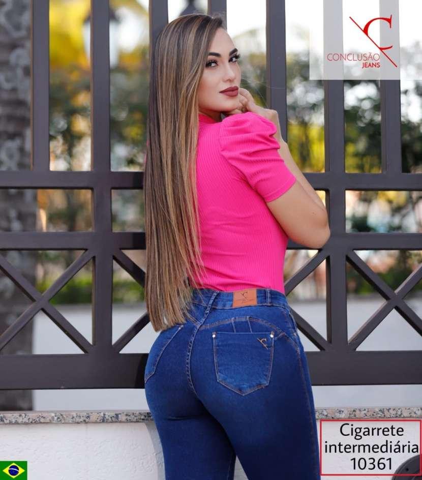 Jeans brasilero elastizado para dama CONCLUSAO10361 - 2