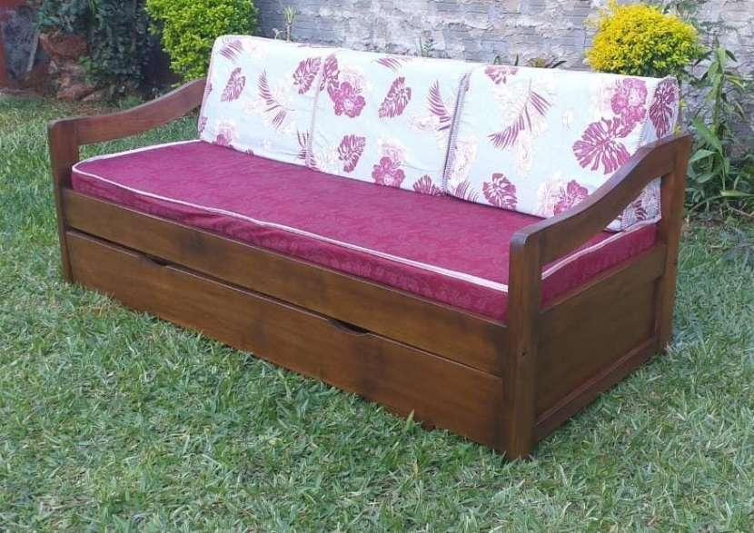 Sofá cama de madera maciza - 0
