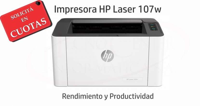 Impresora HP láser 107W - 0