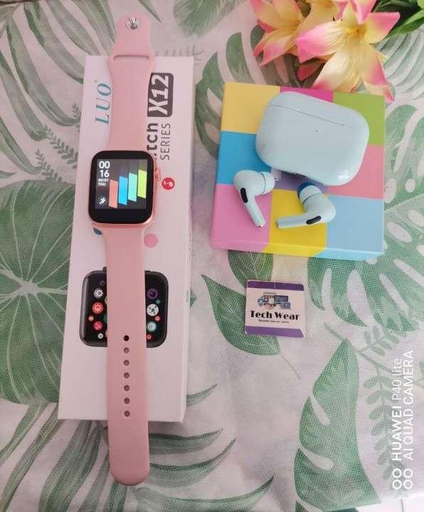 Smartwatch Luo X12 y auricular i12 Pro de regalo - 1