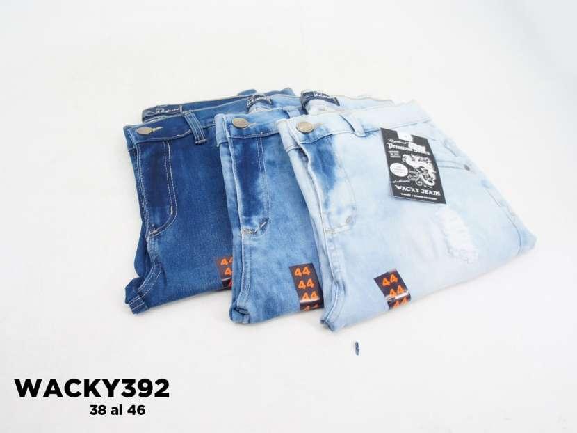 Bermuda de jeans con roturas WACKY392 - 0
