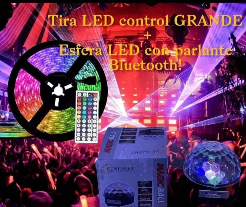 Tira LED control + esfera LED con parlante - 0