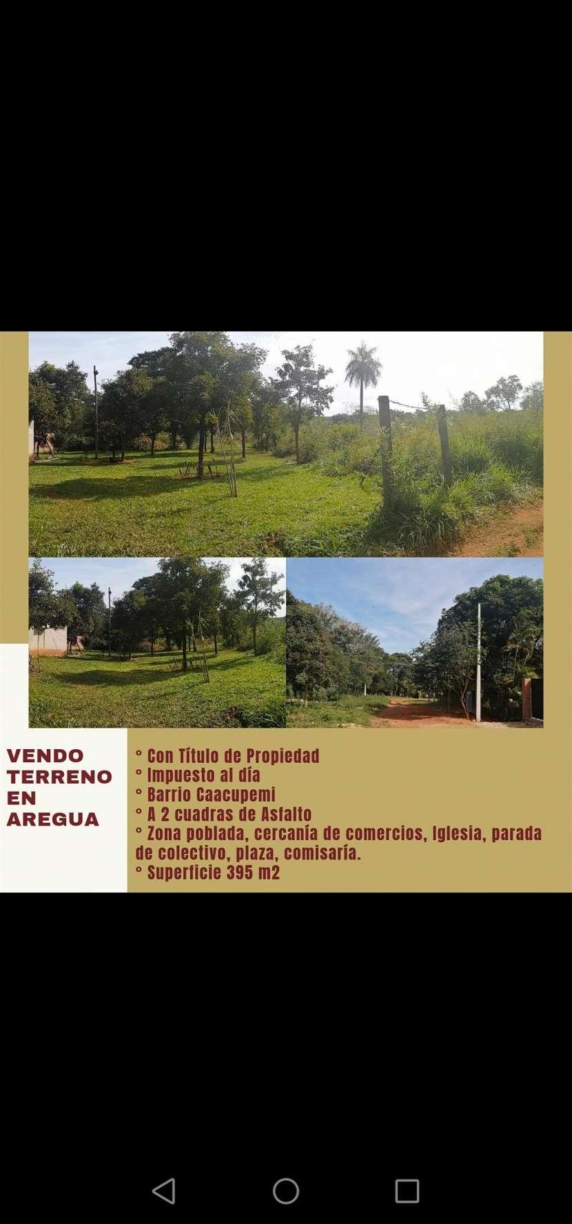 Terreno en Areguá Barrio Caacupemi - 0