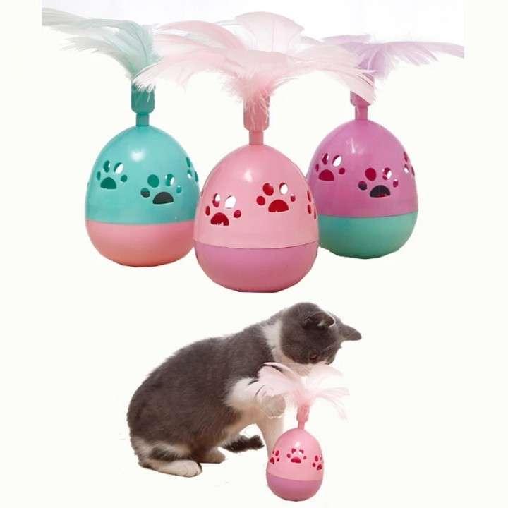 Juguete para gato huevo con cascabel - 2
